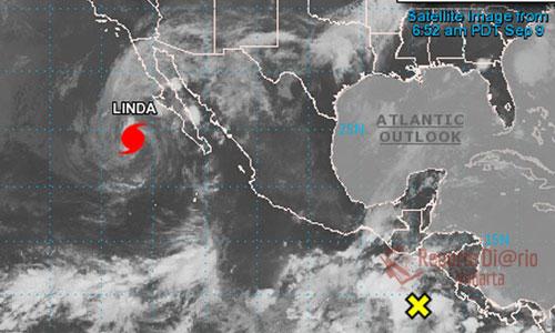De acuerdo con el Servicio Meteorológico Nacional (SMN), Linda perdió hoy fuerza en sus vientos