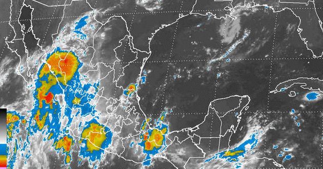 Señaló que el ciclón se desplaza al noroeste a unos 22 kilómetros por hora, con vientos máximos sostenidos de 65 kilómetros por hora y rachas de hasta 85 kilómetros