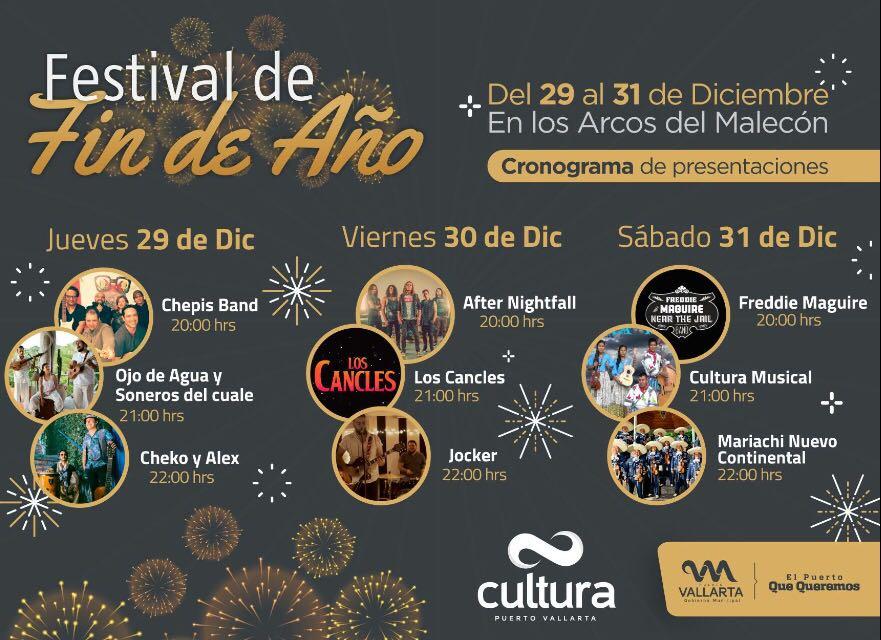 Será del 29 al 31 de este mes cuando nueve grupos locales y provenientes de la ciudad de Guadalajara, realicen presentaciones en Los Arcos del Malecón
