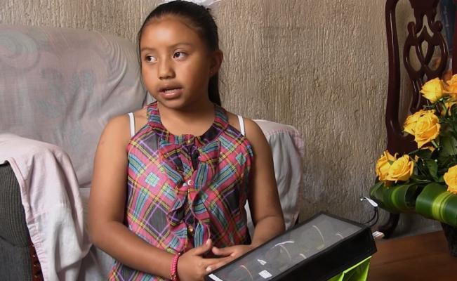 -Una niña de apenas ocho años ganó un galardón del Instituto de Ciencias Nucleares de la UNAM.
